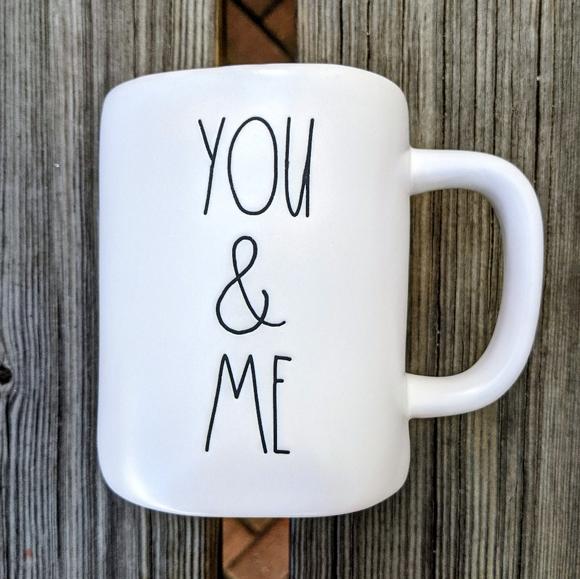 """RAE DUNN """"You & Me"""" Coffee Mug NWT"""